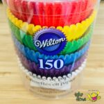 Cupcake Liner Baking Cup Rainbow High Quality Paper by Wilton isi 150