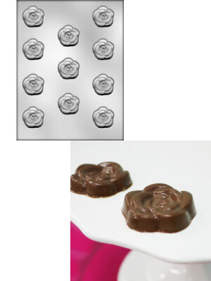 CK 90-13008 Chocolate Mold Rose Cetakan Coklat Bunga Mawar Made in USA Mold and Result 450x600