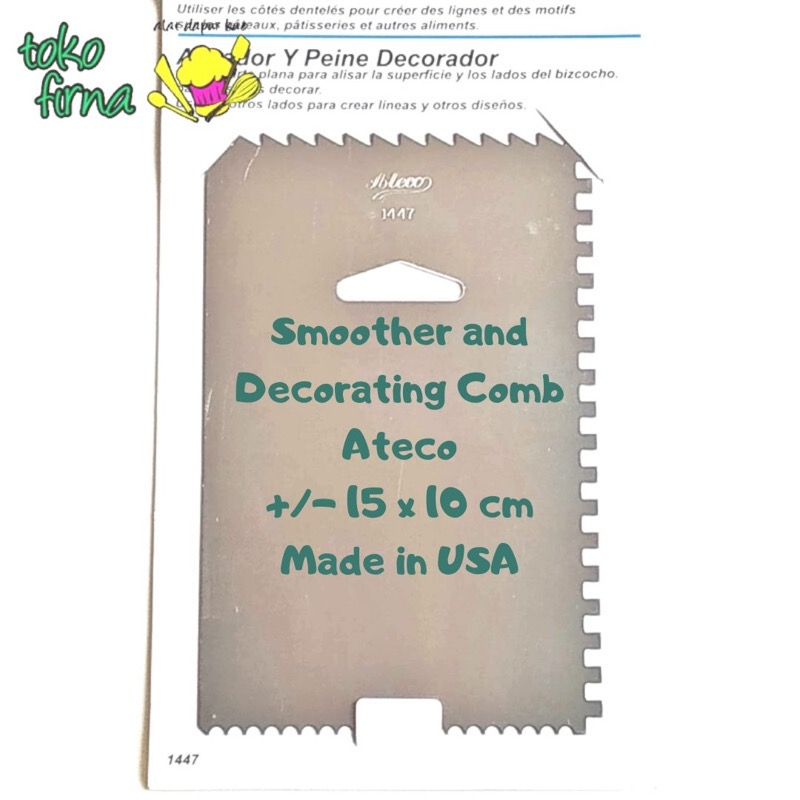 Icing Comb Smoother and Decorating Comb Stainless Ateco