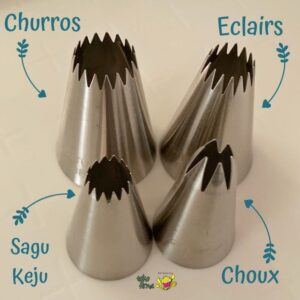 Spuit 1M Choux Spuit 4B Sagu Keju Spuit 6B Eclairs Spuit 8B Churros