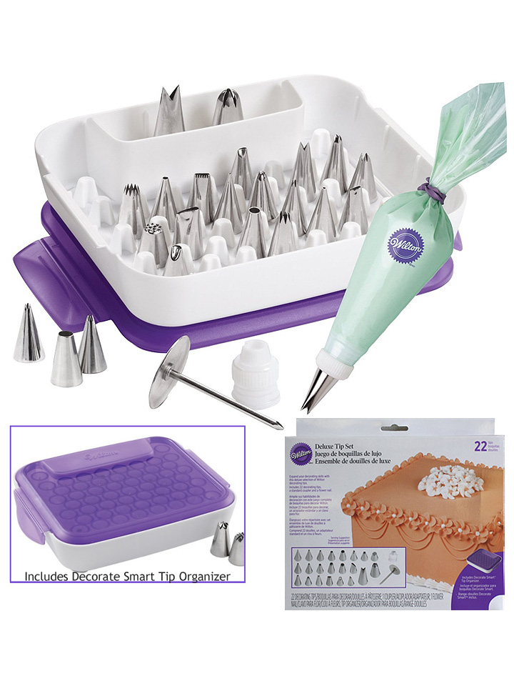 WILTON SPUIT SET DELUXE 22 PCS DETAIL