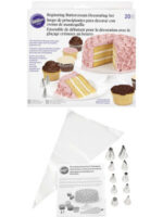 Wilton Beginner Buttercream Decorating Set 20 pcs - terdiri dari 10 spuit dasar dan 10 kantong segitiga disposable
